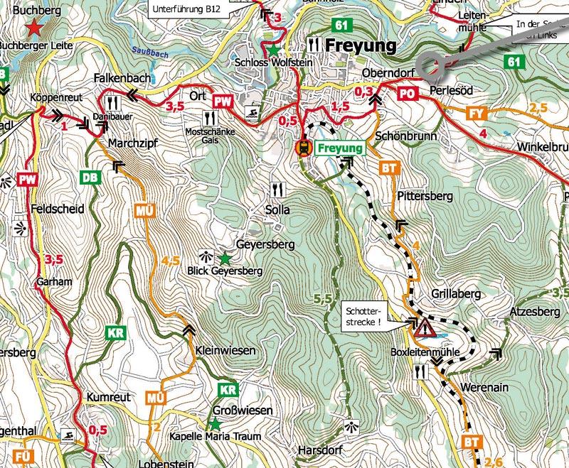 Fahrrad Karte.Das Radroutennetz Zur Ilztalbahn Vcd Kreisverband Passau Freyung
